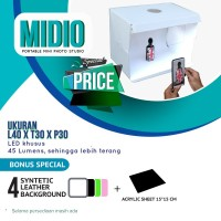 Mini Studio Portable Midio + 4 Background Qns