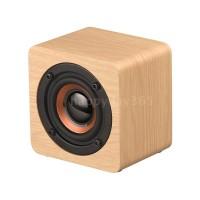 ★Q1 Mini Wooden Bluetooth Speaker Portable Wireless Subwoofer