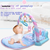MS Lovely Baby Game Mat Kick Play Piano Music Light Hanging Rattle