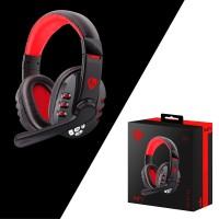 Headset Gaming Wireless Stereo Surround Dengan Mic & Bantalan