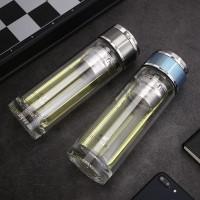 Boron Botol Air Minum Portable Lapis Ganda Bahan Silikon Untuk