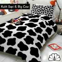 Bedcover Set Motif Kulit Sapi & Big Cow, 180x200, Bed Cover Set Sprei