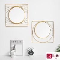Nordic besi cermin hiasan dinding ruang tamu hiasan dinding liontin