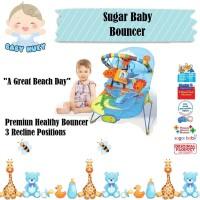 Sugar Baby Bouncer 3 Recline Premium Musical VIbration