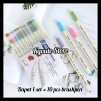 TERMURAH STA METALLIC PEN BRUSH PEN MARKER 10 WARNA SET MURAH