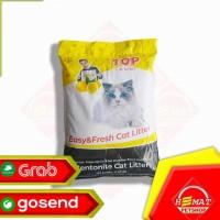 BEST SELLER PASIR KUCING TOP CAT LITTER BENTONITE 20 KG / GUMPAL WANGI