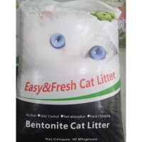 TERMURAH PASIR KUCING TOP CAT LITTER BENTONITE 20 KG / GUMPAL WANGI