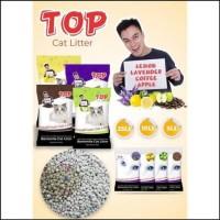 TERMURAH PASIR KUCING TOP CAT LITTER BENTONITE GUMPAL WANGI 25 LT