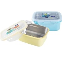 Baby Safe Stainless Steel Lunch Box Tempat Makan Anak dan Bayi 360ml - Kuning