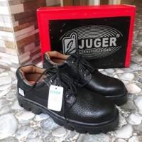 Sepatu Safety Boot Kulit Asli Ujung Besi Juger 018