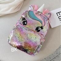 Bajukiddie Unicorn Blink Sequin Bag Tas Anak Sekolah Little Poni Pony