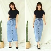 New Sale Zarra Jeans Rok Panjang Acid Pencil/ Rok Jeans Wanita Panjang