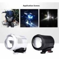 LED Lampu Tembak Motor High Low Beam