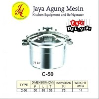 Getra C-50 Pressure cooker panci presto 75 Liter