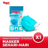 Masker Earloop Merk Bagus 3 Ply Isi 10pcs / Masker Earloop Murah Bagus