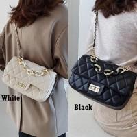 Tas Pesta Selempang Wanita E090 Quilted Sling Bag Branded Elegan Impor