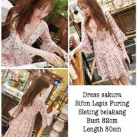 Sakura Dress Import Dress Terbaru Fashion Korea
