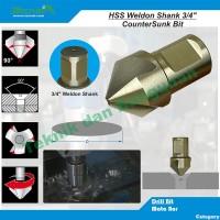 """HSS Countersink 25mm x 90 degree -- Weldon Shank 3/4"""""""