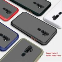 Matte Blur Case Xiaomi Redmi Note 8 Case Redmi Note 8 Pro - Hitam, Redmi Note 8