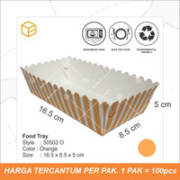 50502 - 50 pc x Food Tray | Foodgrade pack | Tray Makanan
