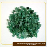 Batu Kristal / Crystal Stones Chips Aventurine Green Big @ 500gram