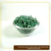Batu Kristal / Crystal Stones Chips Aventurine Green Medium @ 500gram