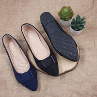 Otha Shoes By Laviola - Sepatu Flat Shoes Wanita - H294 OLF BLACK-NAVY