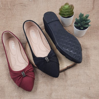 Otha Shoes By Laviola - Sepatu Flat Shoes Wanita - H295 OLF BLACK-MARO