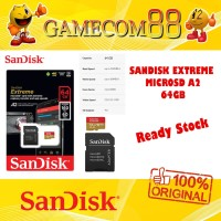 Sandisk MicroSD Extreme A2 64GB Original Sandisk Indonesia
