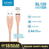 ACMIC SL120 Kabel Data Charger iPhone Lightning Fast Charging Cable