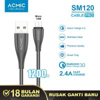 ACMIC SM120 Kabel Data Charger Micro USB 100cm Fast Charging Cable