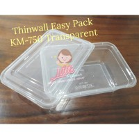 Thinwall Premium 750ml/Lunch Box Plastik 750ml TEBAL/Kotak Makan