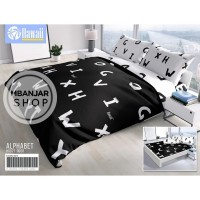 BED COVER SET Hawaii by California King Size 180x200 ALPHABET Motif