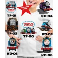 Kaos Baju tshirt anak Custom Thomas and friends