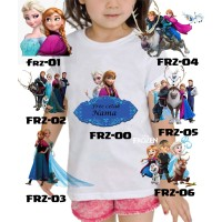 Kaos Baju tshirt anak Custom Frozen Disnep