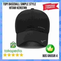 Topi Baseball Polos - Topi Baseball Minimalis - Hitam