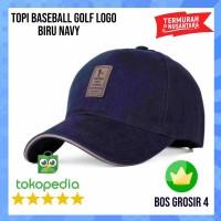 Topi Baseball Biru Navy - Topi Polos Pria - Topi Polos Biru Navy