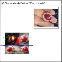Alat Sulap Batu Akik Nyala - Cincin Ajaib - Cincin Merah Delima-Sulap