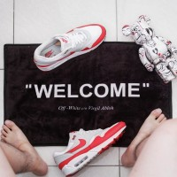 keset custom offwhite welcome quote