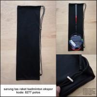 Sarung raket badminton tas raket badminton 8277 POLOS ekspor