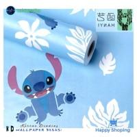 Wallpaper Dinding Biru Stitch | Wallpaper Sticker | Wallpaper