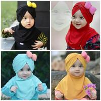 Jilbab Hijab Anak Lubna Kids Minie Mouse Samping/ Kerudung Bayi Murah