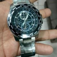 jam tangan pria seiko sport quartz chronograph sporty stainles steel
