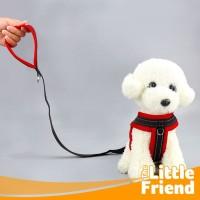 Dog Lead Tali Tuntun Dada Leash Harness Anjing Rompi Simple Polos