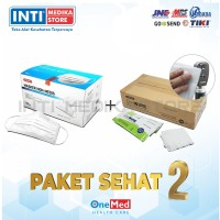 Masker 3 Ply Non Medis ONEMED + Tisu Alkohol / Desinfektan Box ONEMED