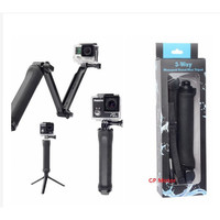 Tongsis 3 Way Gopro Grip Arm Tripod For SJCAM SJ4000 SJ5000 XIAOMI Y