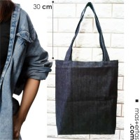 tote bag denim / totebag jeans, polos, ready stock, murah