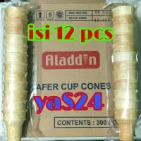 Cup Cone Ice Cream/es krim Aladdin (kwalitas diatas cone diamond)