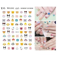 Cute Disney Tsum Tsum Ultra Thin Nail Sticker Stiker Kuku WG202
