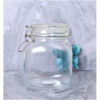 HERMETICO JAR 1000 mL (1 Liter) | Toples Kaca Tutup Kait | Jar Cantik
